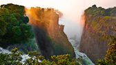 The Victoria Falls at the border of Zimbabwe and Zambia — Foto Stock