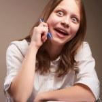 Cute smiling teen schoolgirl — Stock Photo #41099025