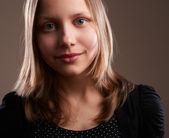 Pretty teenager girl, close-up — Stockfoto