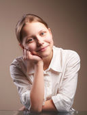 Cute smiling teen schoolgirl — Stock Photo