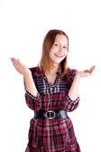 Gelukkig tiener meisje poseren — Stockfoto