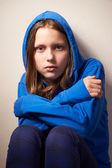 Afraided teen girl — Stock Photo