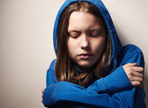 Ragazza teen afraided — Foto Stock