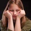 Teen girl making funny faces  — Stock Photo #48327835
