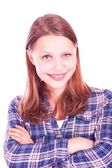 Menina adolescente sorrindo — Foto Stock