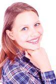 Tiener meisje glimlachen — Stockfoto