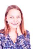 Menina adolescente rindo — Foto Stock