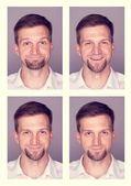 Man expresses different emotions — Stock Photo