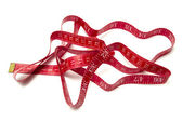 Red tape measure — Stock fotografie