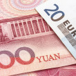 Chinese Yuan and EURO — Stock Photo #12584924