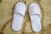 White slippers — Stock Photo