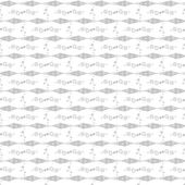 Seamless fish and floral pattern — Vector de stock