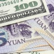 Usd And Chinese Yuan — Stock Photo