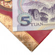 Chinese lucky money red envelope and Yuan — Stock Photo