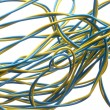 Colorful electrical wire — Stock Photo