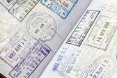 Carimbos no passaporte — Foto Stock