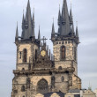 Teyn gothic cathedral in Prague - Stock Photo