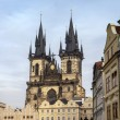 St. Teyn gothic cathedral,Prague - Stock Photo
