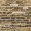 Texture of old bricks wall background — Stock Photo #18090355