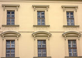 Background of old building's windows — Stock Photo