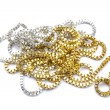 Silver and gold necklaces — Stock Photo