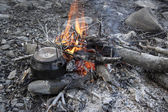 Camp fire — Stock fotografie