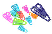 Colorful paper-clips — Stock Photo