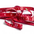 Red tape measure — Stock Photo