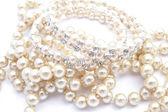 Schöne Zeichenfolge von Perlen — Stockfoto