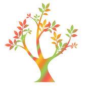 Colorful art tree — Vector de stock