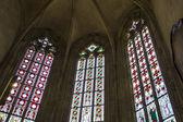 圣维特大教堂,布拉格的彩绘玻璃窗口 — 图库照片