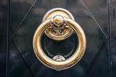 Circle iron door-handle — Stock Photo