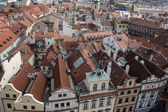 Red roof of buildings in Prague — Stock Photo