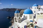 синий и белый церковь г. ия — Стоковое фото