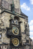 Clock tower in old town square of Prague — Stock Photo