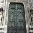 Stock Photo: Old Door of Basilicof SantMaridel Fiore, Florence