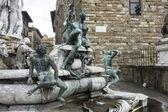 Neptün çeşmesi olarak piazza della signoria, florence — Stok fotoğraf