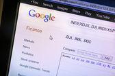 Google finance web page — Stock Photo