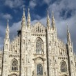 Facade of Cathedral Duomo, Milan — Foto de Stock