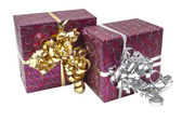 Gift Box with Ribbon Bow — Stock fotografie