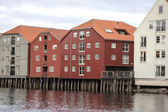 Wooden houses in Trondheim — Foto Stock