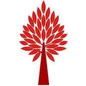 Art tree silhouette — Stock Vector
