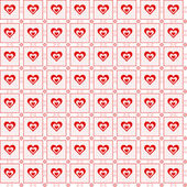 Seamless hearts pattern — Vecteur