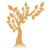 Sylwetka sztuka drzewo — Wektor stockowy