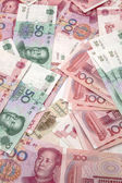 Chinese currency - fifty and hundred yuan — Stock Photo