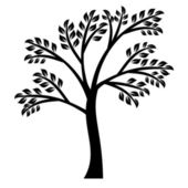Art tree silhouette — Stock Vector