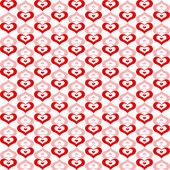 Seamless Hearts Pattern — Vettoriale Stock