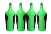 Gröna överstrykningspenna — Stockfoto