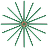 Lápiz de color verde — Foto de Stock
