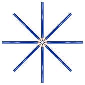 Kolor niebieski ołówek — Zdjęcie stockowe